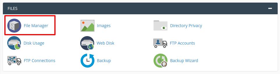 فایل منجر سی پنل
