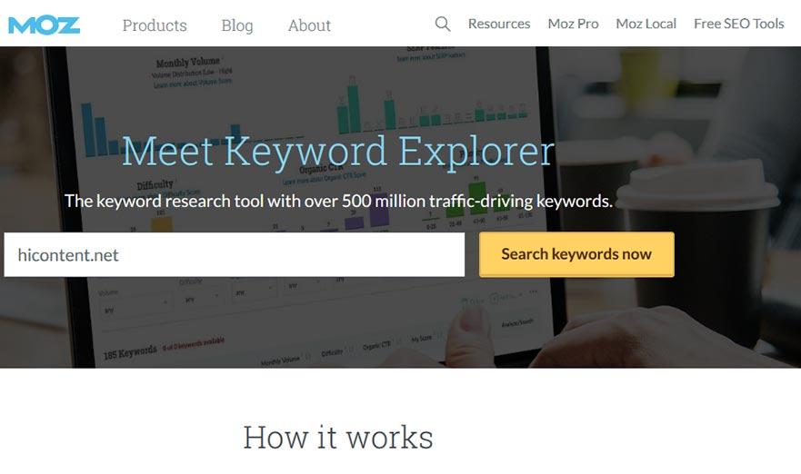 ابزار keyword explorer