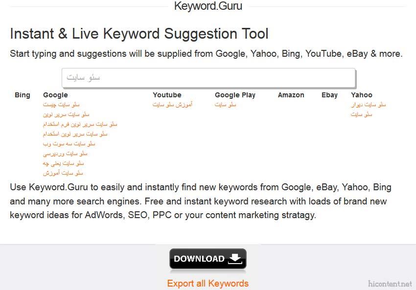 ابزار keyword.guru